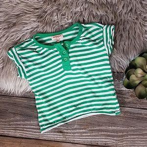 Imps & Elfs organic cotton stripe knit shirt